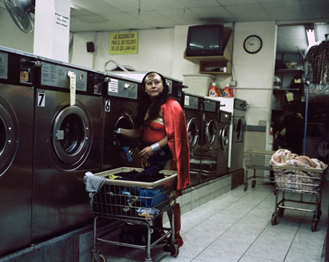 Dulce Pinzon - MARIA LUISA ROMERO from the State of Puebla works in a Laundromat in Brooklyn, New York. She sends 150 dollars a week