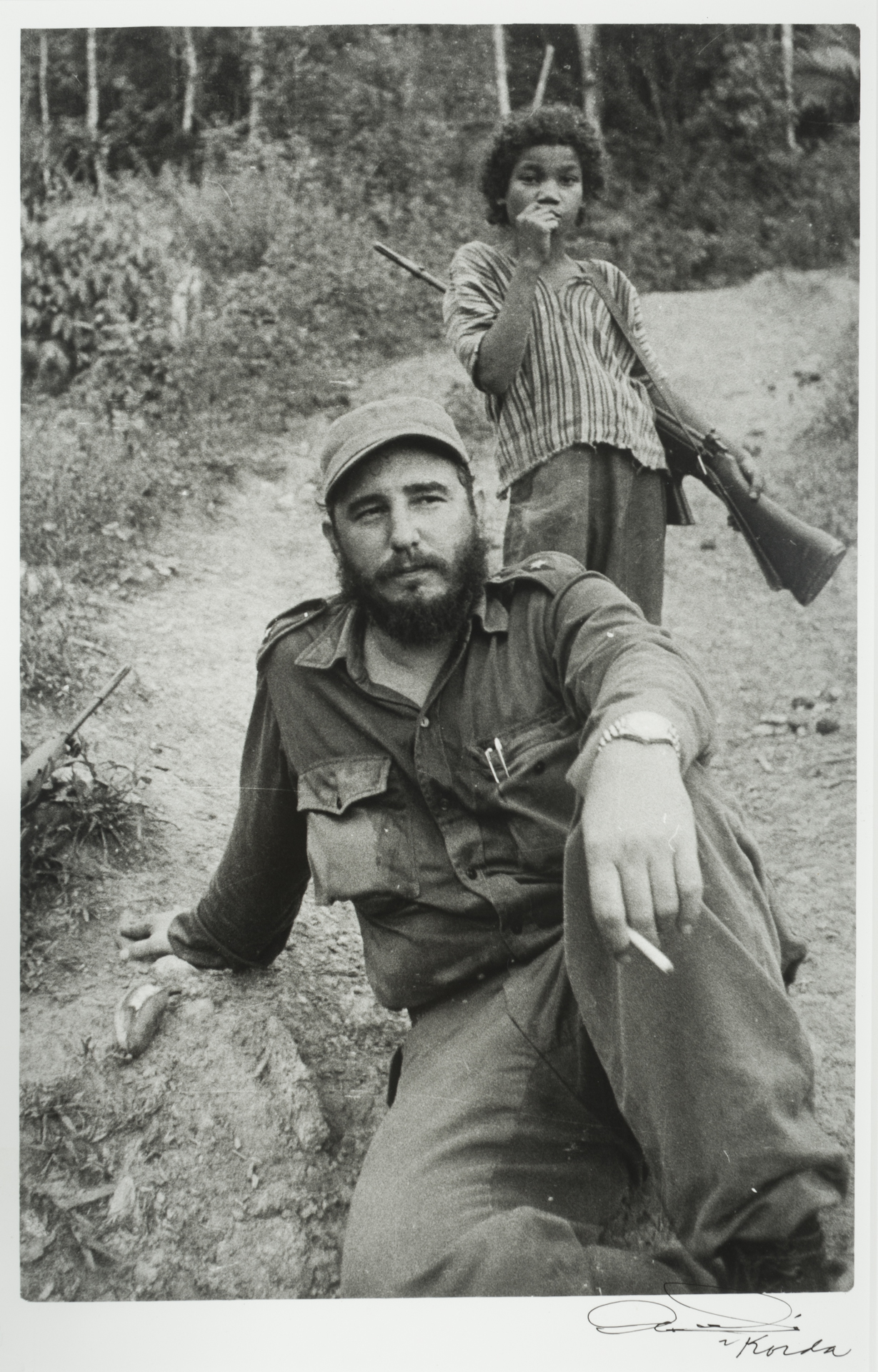 Fidel y Nino (Fidel with Child) 1960 by Korda